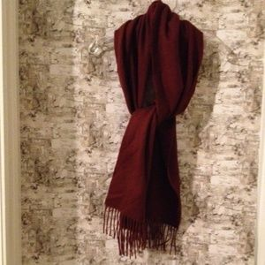 Men's Traditional Wool Scarf Reddish Brown (French